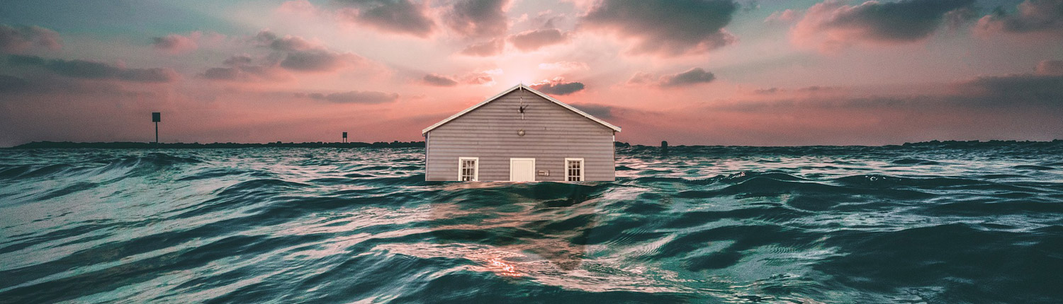 house damaged by water